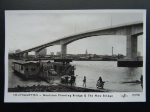 SOUTHAMPTON Woolston Floating Bridge & New Bridge RP Postcard by Pamlin Repro