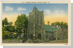 Bristol, Virginia/VA Postcard, Emanuel Church, Near Mint!