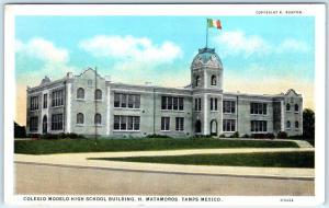 MATAMOROS,  Tamaulipas  Mexico   COLEGIO MODEL HIGH SCHOOL  ca 1920s Postcard