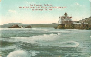San Francisco CA Cliff House (Burned Down in 1907) Vintage Postcard