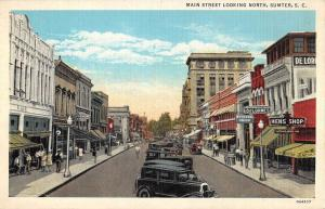 Sumter South Carolina Main Street Scene Historic Bldgs Antique Postcard K93558