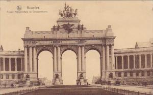 Belgium Brussels Bruxelles Monument Arcade Monumentale Du Cinquantenaire 1930