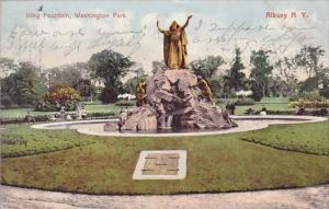 New York Albany King Fountain Washington Park 1906