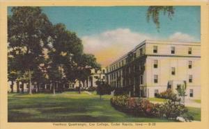 Iowa Cedar Rapids Vorhees Quadrangle Coe College 1947