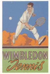 Wimbedon Championship London Poster Advertising Mayfair Postcard