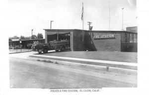El Cajon California Police and Fire Station Real Photo Vintage Postcard JI658311