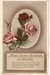 Beautiful roses Tuck Birthday Series PC # 2307