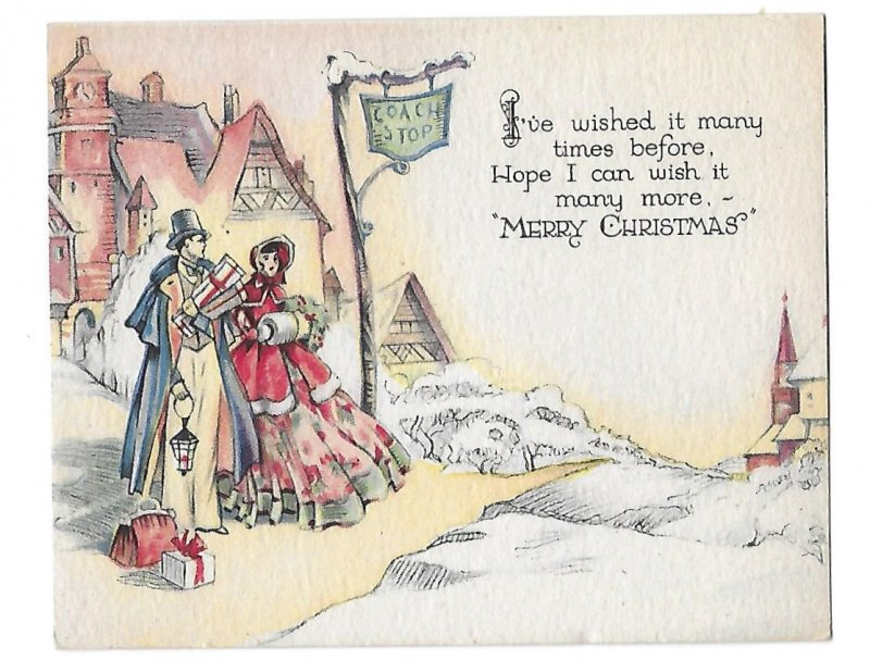 Three Very Old Christmas Cards Unused Envelopes Included