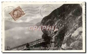 Old Postcard Aix les Bains Lake Bourget The cornice