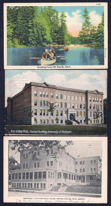 POSTCARD Collection (63) Scenery Buildings Towns mixed eras