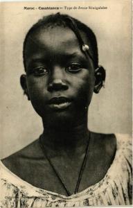 CPA CASABLANCA Type de Jeune Senegalaise MAROC (824453)