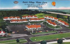 Dutch Village Motor Court Motel - New Castle DE, Delaware