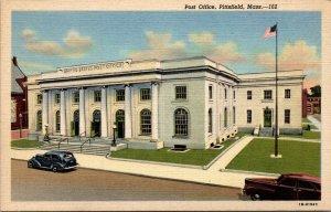 MA Pittsfield Massachusetts 1954 linen postcard POST OFFICE UNPOSTED