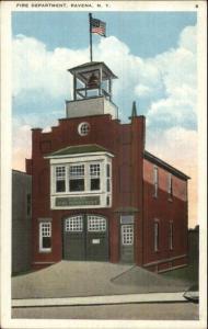 Ravena NY Fire Department Station c1920 Postcard