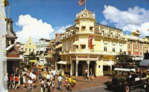 Walt Disney World, 0100-10100F, Main Street USA, Old Postcard