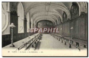 Old Postcard Caen Lycee The Refectory
