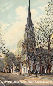Easton Pennsylvania~St Bernard's Catholic Church~South 5th Street Homes~1908 PC