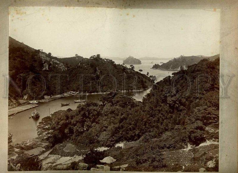 3074760 JAPAN Yokohama bund & musicians Vintage Five PHOTOS