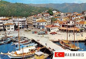 Turkey Marmaris Port Harbour Bateaux Boats Auto Cars