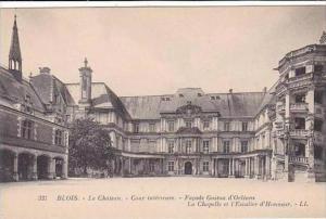 France Blois Le Chateau Cour interieure Facade Gaston d'Orleans