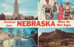 Nebraska Greetings From Nebraska Multi View