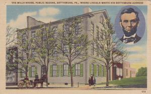 Abraham Lincoln, The Wills House, Public Square, Gettysburg, Pennsylvania, 19...
