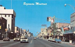 Bozeman Montana~Main Street @ B Ave~Pines Cafe~Crystal Bar~AMC Photo~1970s PC