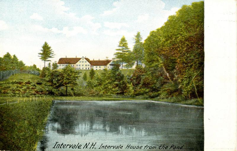 NH - Intervale. Intervale House Hotel from the Pond