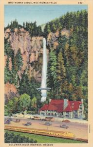Oregon Columbia River Highway Multnomah Lodge At Multnomah Falls Curteich