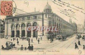 Postcard Old Marseilles Hotel Post