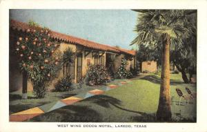 Laredo Texas birds eye view west wing Dodds Motel antique pc Y14863