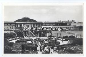 tq1149 - Winter Garden and Pavilion c1940s, at Weston-Super-Mare - postcard