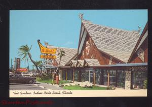 INDIAN ROCKS BEACH FLORIDA TIKI GARDENS 1960's CARS VINTAGE