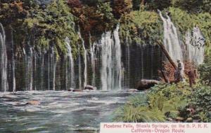 California Mosbrae Falls Shasta Springs On The S P R R