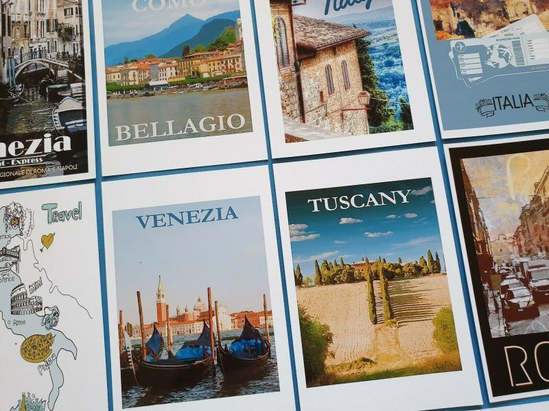 Postcards, Set of 11 NEW Stunning Italian Reproduction Travel Posters 91Q