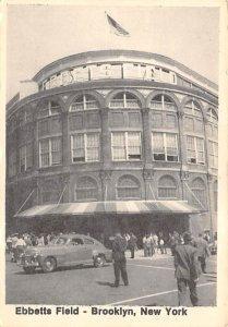 Ebbetts Field, printed 1978, non postcard backing Baseball Stadium Postcard P...
