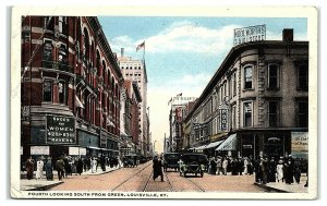 Fourth looking South from Green, Louisville, KY Woolworth's Postcard *6W2
