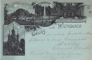 Gruss aus WIESBADEN, Germany, PU-1902