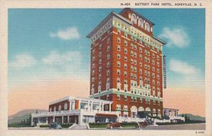 North Carolina Asheville Battery Park Hotel Albertype