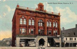 F82/ Geneva New York Postcard c1910 Smith Opera House Kirby Store