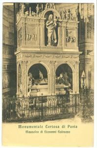 Italy, Monumentale Certosa di Pavia, Mausoleo di Giovanni Galeazzo,early 1900s