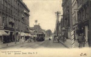 Bleeker Street, Utica, New York, NY, USA Railroad Train Depot Postcard Post C...