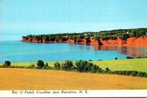 Canada Nova Scotia Bay Of Fundy Coastline Near Parrsboro