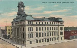 FORT DODGE, Iowa, PU-1911; Webster County Court House