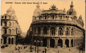 CPA AK GENOVA Palazzo della nuova Borsa e R. Poste ITALY (524558)