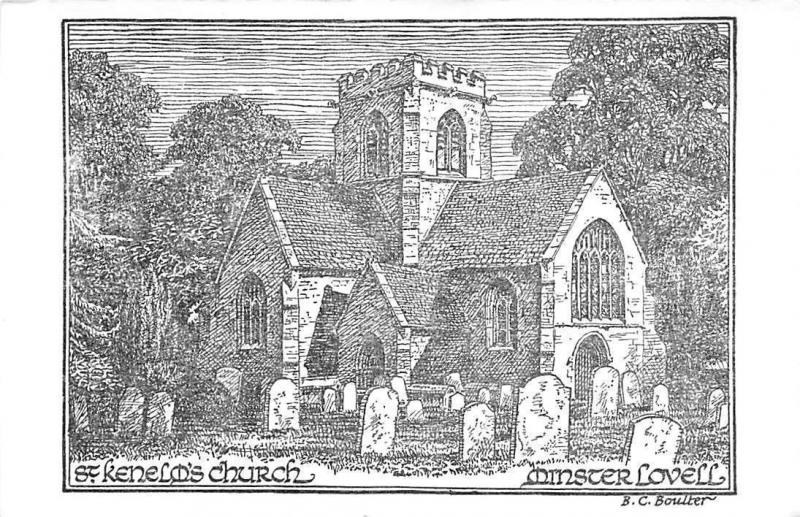 Minster Lovell, St Kenelm's Church, Drawing