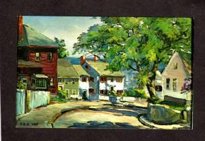 ME Painting Roger Deering Artist Signed Postcard Kennebunkport Maine Kennebunk