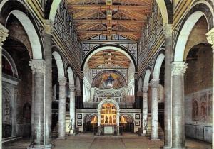 Italy Firenze Art Basilica di S. Miniato al Monte Interno Inside Interior