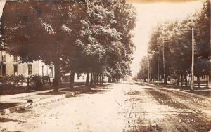 Colon Michigan~Postcard RPPC Homes on Dirt Main Street North c1914 (As is)