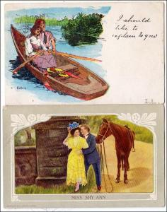 2 - Humour Cards with Lovers